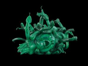The Severed Head of Medusa, malachite © Damien Hirst and Science Ltd. All rights reserved, DACS/SIAE